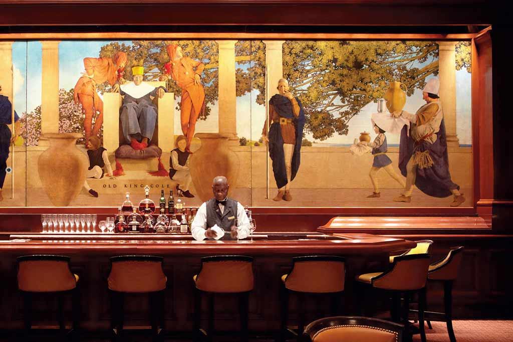 Best cocktail bars in manhattan for Bemelmans bar mural