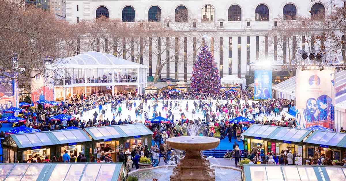 Bryant Park Christmas.Winter Village At Bryant Park Opens For The Holidays Thirsty