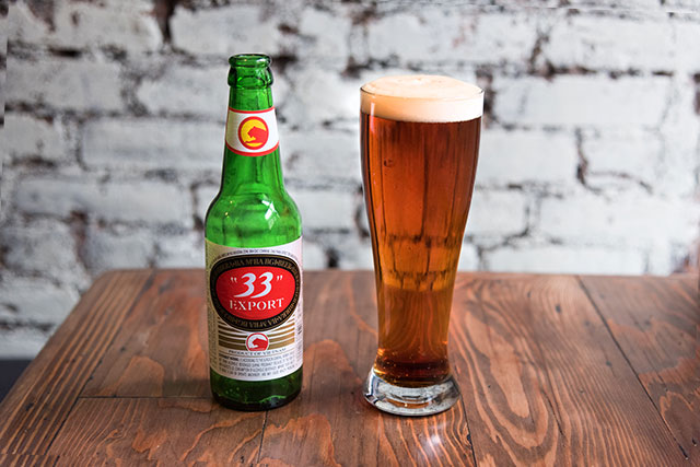 Export 33 Vietnamese Lager and Amer Gingebre