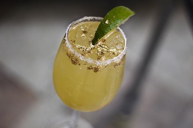 24 Karat Golden Margarita at Gianni's at The Villa
