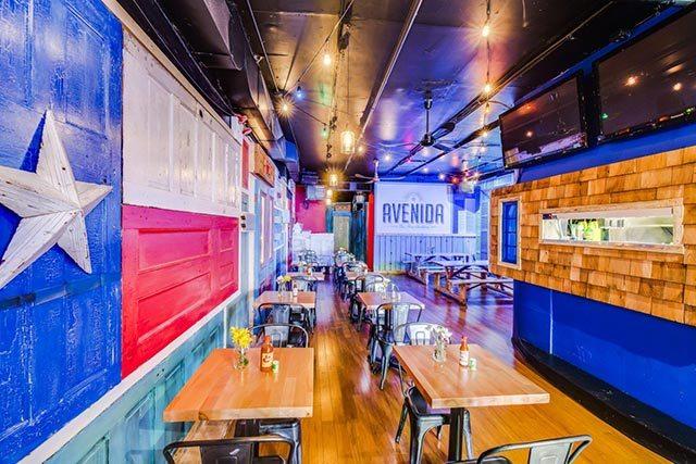 Avenida Tex Mex Cantina Houston Texans New York City Team Bar