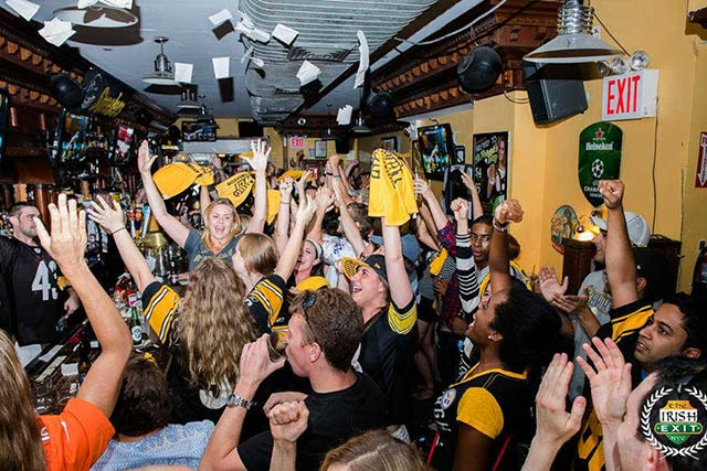 The Irish Exit Pittsburg Steeler's New York Team Bar