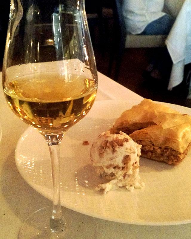 greek-wine-dinner-milos-miami-moschato-baklava-2